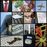 Collage di affari Immagine Stock