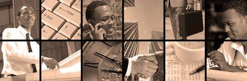 Collage di affari Fotografie Stock