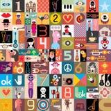 Collage di arte Immagini Stock Libere da Diritti