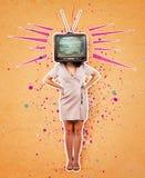 Collage di arte di propaganda della televisione immagine stock libera da diritti