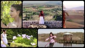 Collage di attività della campagna archivi video