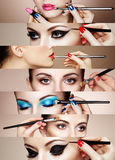 Collage di bellezza Fronti delle donne Immagini Stock Libere da Diritti