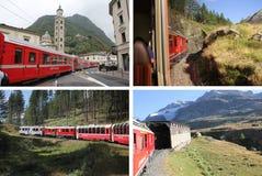 Collage di Bernina Fotografia Stock