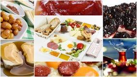 Collage di Breakfat del turco fotografia stock
