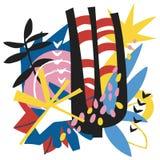 Collage di carta degli elementi floreali astratti Fotografie Stock