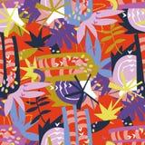 Collage di carta degli elementi floreali astratti Fotografia Stock Libera da Diritti