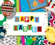 Carta del collage di cellebration di Pasqua Fotografie Stock