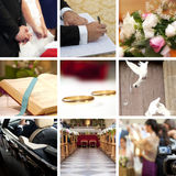 Collage di cerimonia nuziale Immagini Stock Libere da Diritti