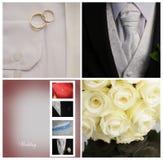 Collage di cerimonia nuziale Immagine Stock