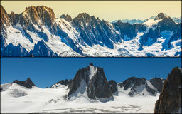 Collage di Chamonix Mont Blanc, Francia Fotografie Stock