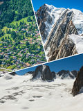 Collage di Chamonix Mont Blanc, Francia Fotografia Stock Libera da Diritti