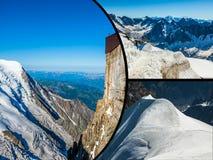 Collage di Chamonix Mont Blanc, Francia Immagini Stock Libere da Diritti
