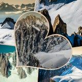 Collage di Chamonix Mont Blanc, Francia Immagine Stock Libera da Diritti