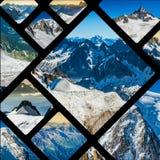 Collage di Chamonix Mont Blanc, Francia Fotografia Stock