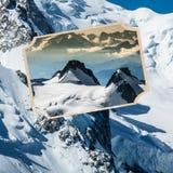 Collage di Chamonix Mont Blanc, Francia Immagine Stock