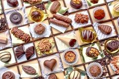 Collage di cioccolato decorato Fotografia Stock