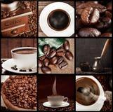 Collage di concetto del caffè Fotografia Stock