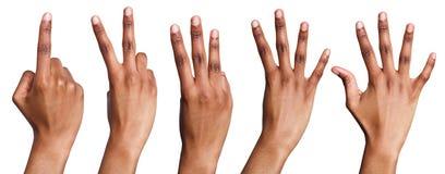 Collage di conteggio afroamericano delle mani Immagine Stock Libera da Diritti