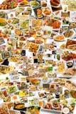 Collage di cucina del mondo Fotografia Stock Libera da Diritti