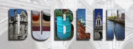 Collage di Dublin Ireland Fotografie Stock