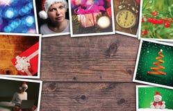 Collage di feste del nuovo anno e di Natale Fotografia Stock