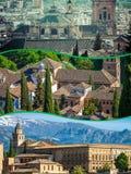 Collage di Granada, Spagna le mie foto Fotografia Stock Libera da Diritti