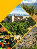 Collage di Granada, Spagna le mie foto Immagine Stock