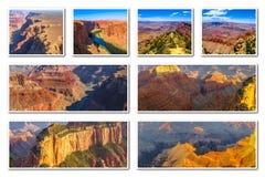Collage di Grand Canyon Fotografie Stock Libere da Diritti