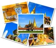 Collage di grandi cartoline del palazzo di Wat Phra Kaew Fotografie Stock