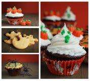 Collage di Halloween Fotografia Stock