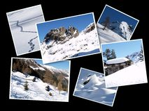 Collage di inverno Immagine Stock