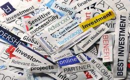 Collage di investimento Fotografie Stock