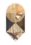 Collage di marmo astratto Immagini Stock
