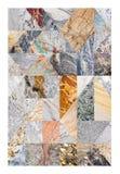 Collage di marmo astratto Fotografia Stock Libera da Diritti