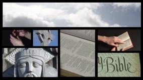 Collage di metraggio religioso 5 stock footage