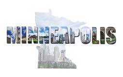 Collage di MN di Minneapolis Fotografia Stock