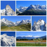 Collage di Mont-Blanc, Francia Fotografia Stock Libera da Diritti