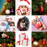 Collage di natale Immagine Stock