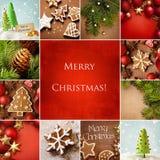 Collage di Natale Fotografie Stock