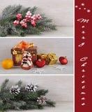 Collage di Natale. Fotografie Stock