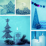 Collage di natale Fotografie Stock