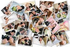 Collage di nozze Fotografia Stock
