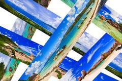 Collage di panorama della spiaggia di estate Fotografia Stock Libera da Diritti