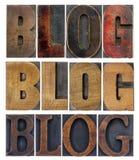 Collage di parola del blog Fotografia Stock Libera da Diritti