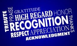 Collage di parola di elogio di apprezzamento di riconoscimento royalty illustrazione gratis