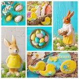 Collage di Pasqua Fotografie Stock Libere da Diritti