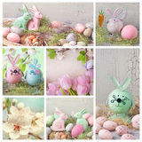 Collage di Pasqua Fotografie Stock