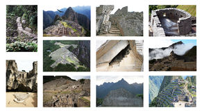 Collage di pichu di Machu immagine stock