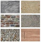 Collage di pietra del mattone Fotografie Stock