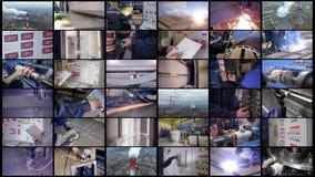 Collage di produzione industriale 4K video d archivio